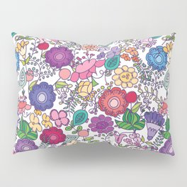bold + beautiful hand drawn floral motifs Pillow Sham
