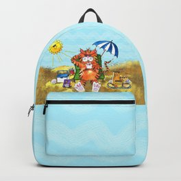 Cat at the Beach Backpack