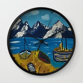Mediterranean Village Wall Clock