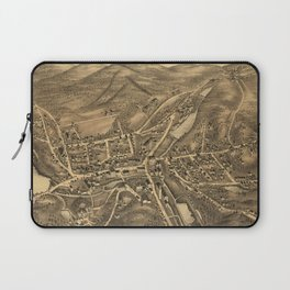 Vintage Map of Stafford Springs CT (1878) Laptop Sleeve
