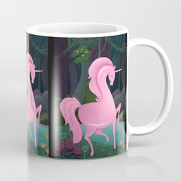 Enchanted Woodlands With A Pink Unicorn Coffee Mug