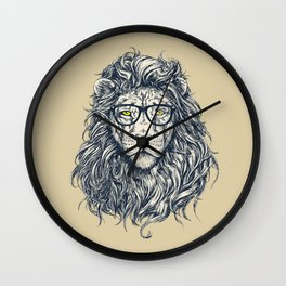 lion sketch Wall Clock