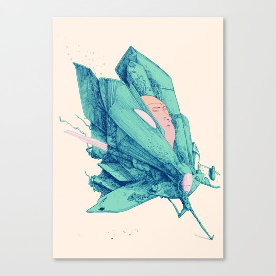 Butterfly spaceship Canvas Print
