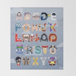 P is for Pixar (Pixar Alphabet) Throw Blanket