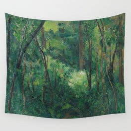 1880 - Paul Cezanne - Interior of a forest Wall Tapestry