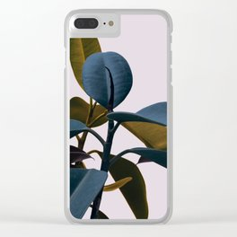 Exotic Leafs Clear iPhone Case