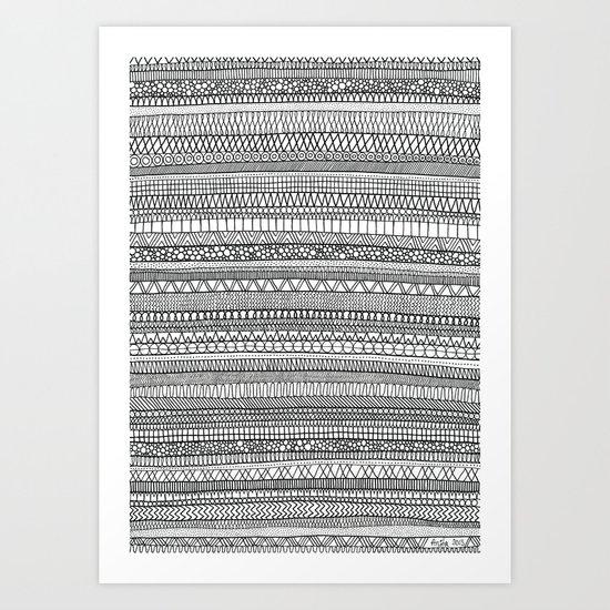 Mad Scribbles  Art Print
