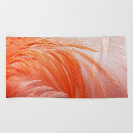 FLAMINGO FLAME Beach Towel
