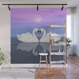 Heart of Swans #14 Wall Mural