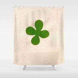 Solo green leaf Shower Curtain