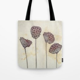 Dried Waterlilies Tote Bag
