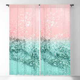 Summer Vibes Glitter #4 #coral #mint #shiny #decor #art #society6 Blackout Curtain