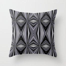 Monochromatic Diamond Throw Pillow