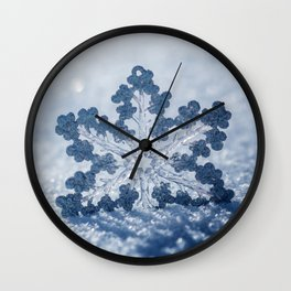 Snowflake #1 Wall Clock