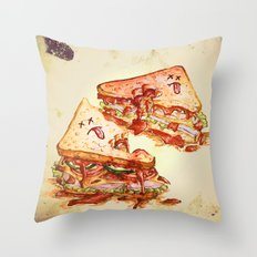 Sandwich Massacre Throw Pillow