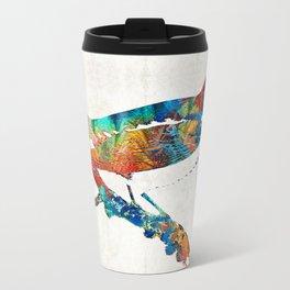 Colorful Bird Art - Sweet Song - By Sharon Cummings Travel Mug