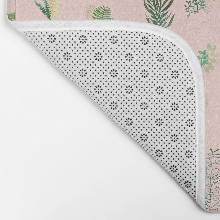 pink pattern flowers Bath Mat