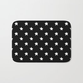 Polka Stars: Black and White Bath Mat