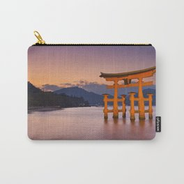 II - Miyajima torii gate near Hiroshima, Japan at sunset Carry-All Pouch