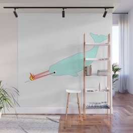 narwhal marshmellow Wall Mural