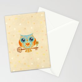 Owl's Summer Love Letters Stationery Cards