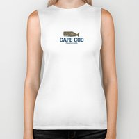 cape cod Biker Tanks featuring Cape Cod by America Roadside
