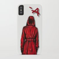 """pretty little liars iPhone & iPod Cases featuring Pretty Little Liars - """"Red Coat""""   Drawing by CorySimpsonArt"""
