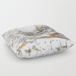 Gold Marble Floor Pillow