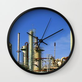 Oil Refinery Wall Clock