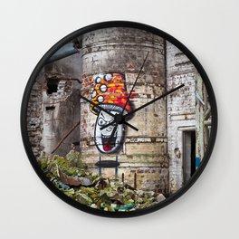 mushroom graffiti Wall Clock