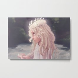 Girl by the River Metal Print