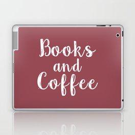 Books and Coffee (Purple) Laptop & iPad Skin