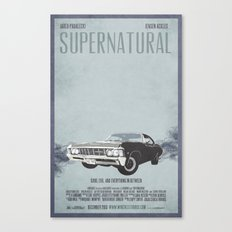 Supernatural: Chevy Impala Movie Poster Canvas Print