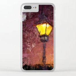 Lamp And Moon Clear iPhone Case