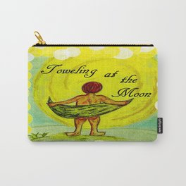 Toweling at the Moon 2 Carry-All Pouch