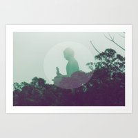 namaste Art Prints featuring namaste by Sknowlesy