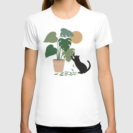 Cat and Plant 13: The Making of Monstera T-shirt