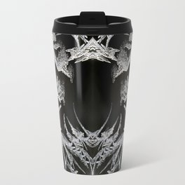Ice Crystals In Black And White #decor #society6 #homedecor Travel Mug