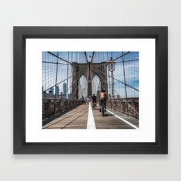 Brooklyn Bridge, New York City Framed Art Print