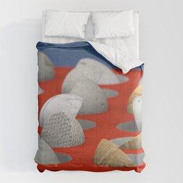 MARBLE - WOOD - CONCRETE - COTTON II Comforters