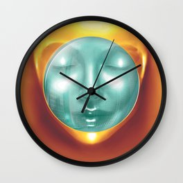 Outterspace Meditation Wall Clock