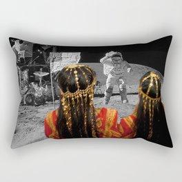 Rgaya and Sabeecha go to the moon Rectangular Pillow