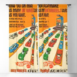 1970 American Issue Vintage Hot Wheels Redline Factory Poster Blackout Curtain