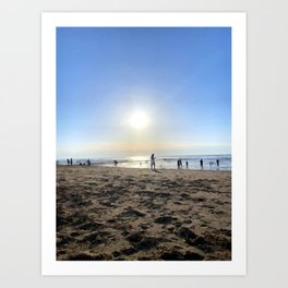 Silence in French Riviera Art Print