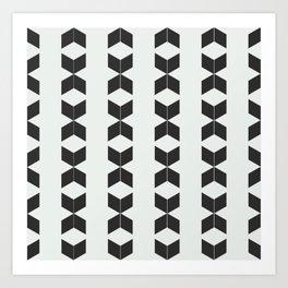 Phillip Gallant Media Design - Black Diamonds on White Art Print