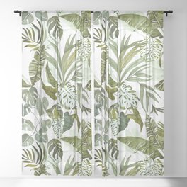 Wild botany in the jungle Sheer Curtain