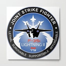 The F-35i Adir Logo Metal Print