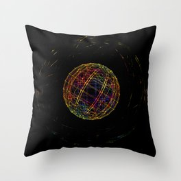 Neon String Ball Throw Pillow