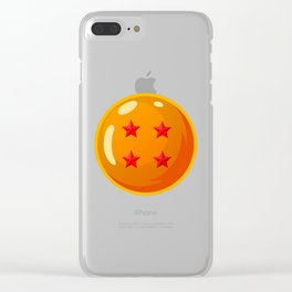 Dragonball - 4 Star Ball Clear iPhone Case