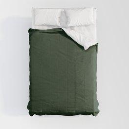 Dark Green Solid Color Plain Comforters
